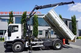 tipper truck > 7.5 t Iveco EuroCargo 160 160E25 , EEV , 4X2 , tipper + Crane , Remote Control 2014