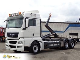 container truck MAN TGX 18 Manual + HOOK system + Euro 5 2010