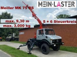 crane truck Unimog U 1000 Meiller Kran 9,30 m max. 3 t 1980