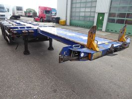 container chassis semi trailer D-TEC FT-43-03V,flexi,multi,highcube 45,40,30,20 3x schuiver 2008