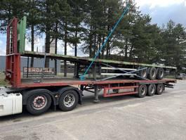 flatbed semi trailer Groenewegen 3-essieux BPW - SUSP. AIR - 13m60 - FREINS TAMBOURS 2001