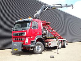 container truck Terberg FM 1350 6x6 / HIAB 22 t/m CRANE + CONTAINER SYSTEM 2004