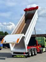 tipper semi trailer Stas HardoX 34 m³, Liftachse, hydr. Rückwandklappe 2021