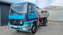 tipper truck > 7.5 t Mercedes-Benz Actros 1831 4X4 tipper + crane 1999