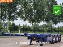 container chassis semi trailer Nooteboom 45ft Liftachse 2x20-30-40-45ft. SAF 2000