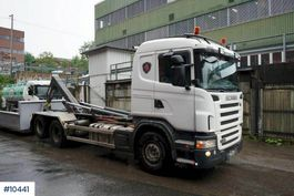 container truck Scania G480 Hook truck with 20 T JOAB hook and 2 boxes 2009