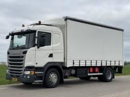 sliding curtain truck Scania G320  12-2016.  171416km. Schuifzeil.  2tons Laadklep! 2016