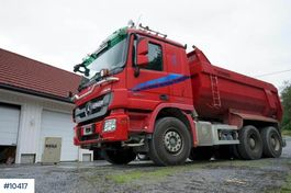 tipper truck > 7.5 t Mercedes-Benz Actros 2655 6x4 Tipper truck. Steel suspension and 2010