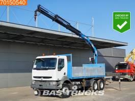 platform truck Renault Kerax 420 6X4 Manual Big-Axle Steelsuspension Euro 3 PM 20023 2002