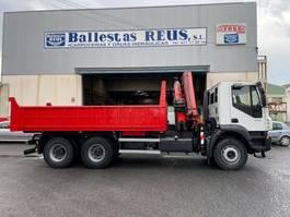 crane truck Iveco basculante Iveco Trakker 410 Fassi F 235 2007