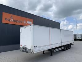 closed box semi trailer Van Hool damaged rood, full chassis, galvanized, BPW+drum, NL-trailer, APK: 12/2021 2005