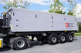 tipper semi trailer Inter Cars WN 35m3. aluminiowa , masa wł 6.550kg , oś podnoszona , JAK NOWA 2019