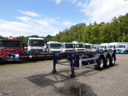 container chassis semi trailer Dennison 3-axle container trailer 20 ft 2014