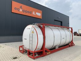 tank container Van Hool 20FT, 33.966L / 2-comp (26.467L+7.499L), L4BN, IMO-4, CSC + 5Y-inspection: 07/2022 2000