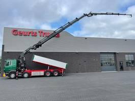 tipper truck Scania R500 V8 8X4 3 ZIJDIGE KIPPER/TIPPER + HIAB 622E-6 + JIB 150X-6 KRAAN/KRAN/CRANE/GRUA 2013