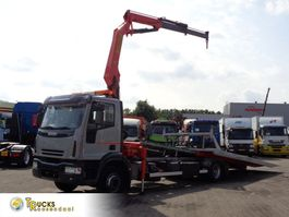 Autotransporter LKW Iveco EuroCargo 160 E24 + Manual + Palfinger crane PK10.5+ Autotransporter 2006