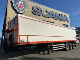 belt semi trailer Bulthuis Chassis opbouw Van der Peet 57m3 2002