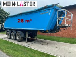 tipper semi trailer Meiller Alu Stahl Mulder 28 m³ Fertiger NL 29.300 kg 2013