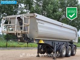 tipper semi trailer Meiller Kisa3 MHPS 44.3P 3 axles 25m3 Liftachse Stahl-Kipper 2016