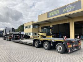 lowloader semi trailer Faymonville 3-Achs-Tiefbett-Sattelauflieger-Bolzen-Laschenkupplung