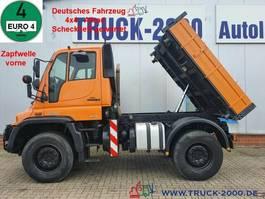tipper truck Unimog U400 4x4 3S-Kipper Zapf. Scheckheft Winterdienst 2008