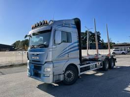 timber truck MAN TGX 26 6x4, E6, Retarder, Hydraulics, (Ohne Kran)