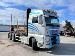 timber truck MAN TGX 26 6x4, Euro 6, Retarder, Timber-truck, (Crane hydraulics), 2015