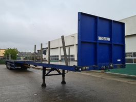 flatbed semi trailer Lintrailers 3AUON 18 27 Flatbed with Timberstakes (extendable 21m) 1996