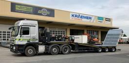semi lowloader semi trailer Meusburger 3-Achs-Semi-Auflieger mit abklappbarem Heck
