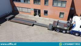 lowloader semi trailer Meusburger TE KOOP & TE HUUR: 1-ass. Uitschuifbare dieplader // 1x gestuurd 2021