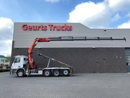 container truck Mercedes-Benz Actros 3541 8X4 TRIDEM + KABELSYSTEEM + PALFINGER PK 27002-E KRAAN/KRAN/CRANE/GRUA 2006