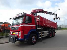 tipper truck Volvo FM 420 6X6 KIPPER + KRAAN HMF 2420 / REMOTE CONTROL / KEURING / TUV / LOW KM / HOLLAND TRUCK / PERFECT CONDITION !! 2010