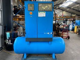 compressors Grassair SFX1000.10MT5 Silent Elektrische Schroefcompressor 7.5 kW 1.010 L/min 9.75 Bar met 500 liter ketel en droger 2005