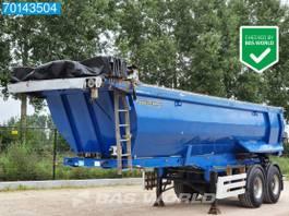 tipper semi trailer Meiller TR2 25m3 Stahl-Kipper Cramaro Verdeck 2014