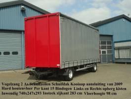 sliding curtain trailer Vogelzang VA-10-10-SZ Schuifzeilen Schuifdak + Kooiaap aansluiting 2009
