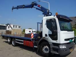 drop side truck Renault HD300 6X2 HIAB 125-2 KRAAN 1997