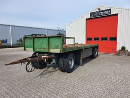 flatbed full trailer Pacton 1612 D. 1988