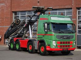container truck Volvo 13.460 8x2 Cable containter system - HIAB 166 E4 Hipro Crane 2010