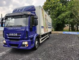 refrigerated truck Iveco EuroCargo 150 e22 insulated box with taillift dhollandia