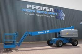 telescopic boom lift wheeled Genie S45/4WD Valid inspection, *Guarantee! Diesel, 4x4 2014
