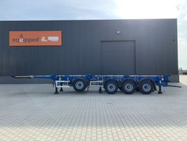 container chassis semi trailer Dennison Like new: 4 axles combichassis, 2 liftaxles, BPW-drumbrakes, MOT: 31/07/2022, 3x availabe 2016