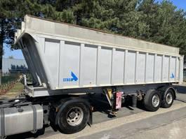 tipper semi trailer Stas S339CX - 3-AXLES - 26m³ ALU KIPPER *DAMAGED* - 1 AXLE MISSING / 1 ACHSEN FEHLT / MANQUE 1 ESSIEUX - DRIVABLE / ROULABLE / FAHRBAHR 2007