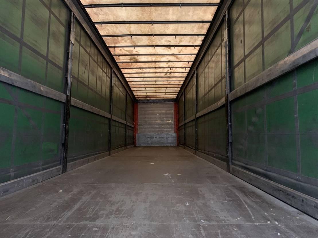 sliding curtain semi trailer Schmitz Cargobull SCS 24/L - 13.62 MB VARIOS (S01), hefdak, SAF+schijfremmen, gegalvaniseerd, NL-trailer 2010
