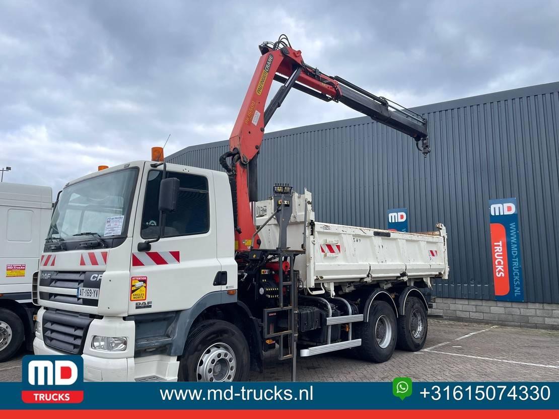 crane truck DAF CF 85 full steel manual 15.5T PALFINGER 2005