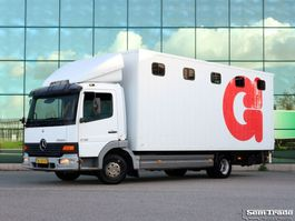 Pferdetransporter-LKW Mercedes-Benz ATEGO 815 EURO 3 FULL STEEL SUSPENSION  HOLLAND TRUCK  MANUAL GEARBOX 2001