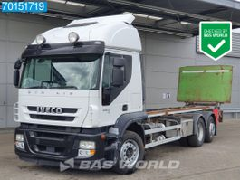 container truck Iveco Stralis 480 6X2 Manual Lift+Lenkachse Ladebordwand Euro 5 2012