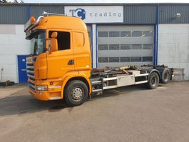 container truck Scania R480 hooklift manual gearbox R480 2008