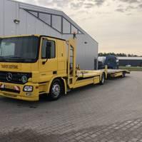car transporter truck Mercedes-Benz Actros 1836 Combinatie inclusief aanhanger 2004