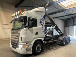 container truck Scania G480 6x2 - AJK 20T HAAKSYSTEEM / ABROLLKIPPER / AMPLIROL - *AIRRIDE* - RETARDER - AD-BLUE - AUTOMATIC - A/C - FRIGO 2013