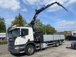 drop side truck Scania P230 4X2 MANUAL EURO 5 + HIAB 144 E-3 + JIB 45X-2 MET REMOTE + LAADKLEP 2009